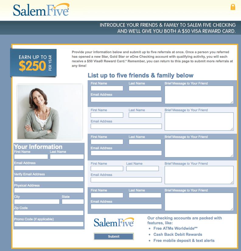 Salem Five Bank ReferLive