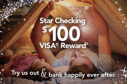 Salem Five Bank Star Checking 100 Visa Reward