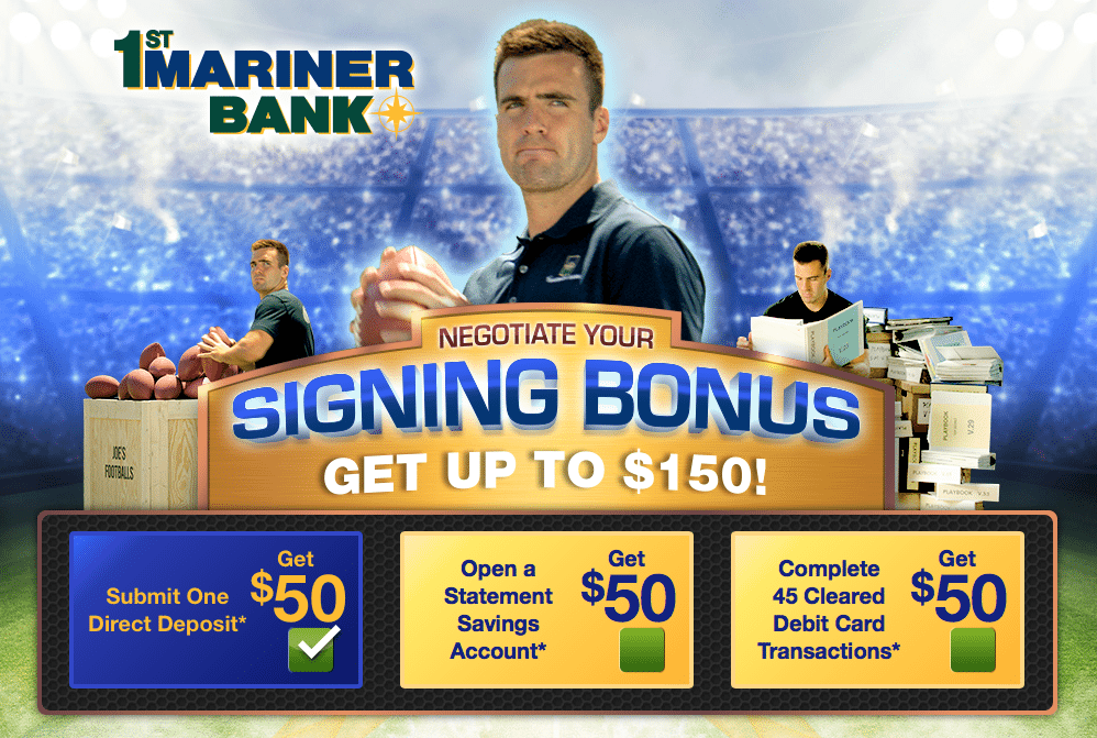 1st Mariner Bank 150 Checking Bonus