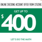 Citizens Bank Online Checking Account Bonus