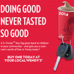 Wendy's Free Frosty Keychain Promotion 2015