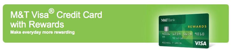 MT Bank Visa Rewards Credit Card