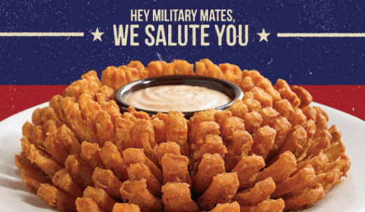 Outback Steakhouse Military Mates Veterans Day
