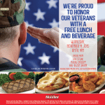 Sizzler Restaurants Offer Free Lunch for Veterans on Wednesday, November 11, 2015