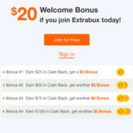 Extrabux $20 Referral Bonus