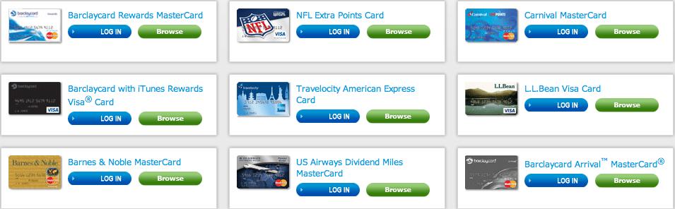 Barclaycard RewardsBoost Eligible Barclaycard Cards