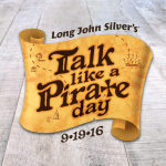 Long John Silver's Free Piece of Fish for Talk Like a Pirate Day on September 19, 2016