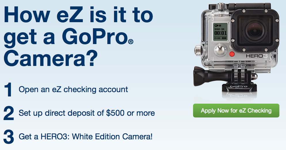 Eastern Bank Checking GoPro Camera Offer