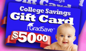 GradSave Gift Card $50 529 College Fund Donation