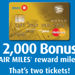 BMO AIR MILES World MasterCard 2,000 Bonus Miles for 2 Tickets