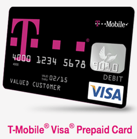 T-Mobile Mobile Money Visa Prepaid Card