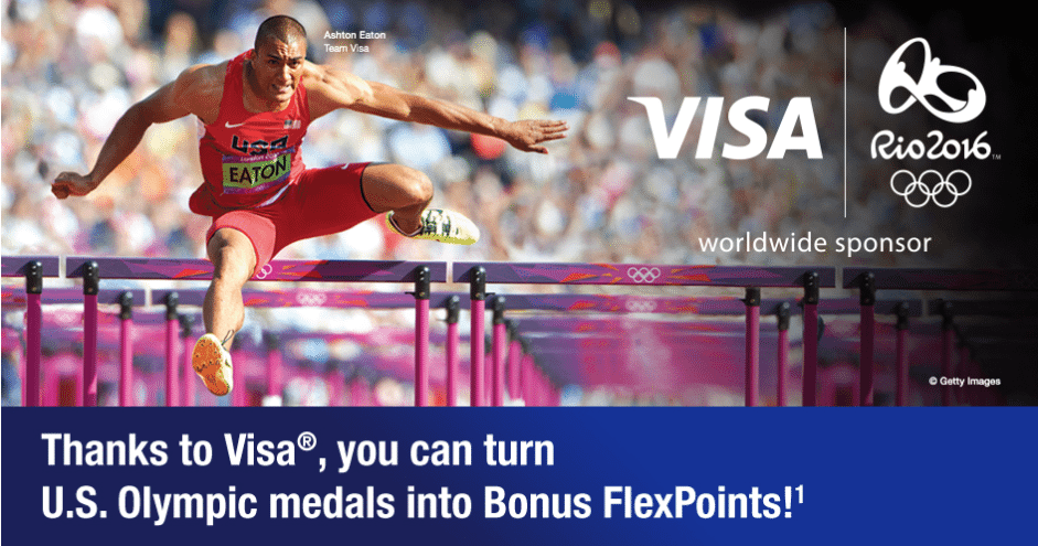 FlexPerks Travel Rewards Visa Signature Card Olympic Medal Count Promotion