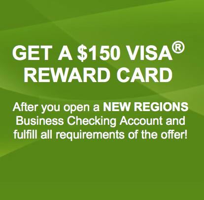 Regions Bank Business Checking Account Bonus