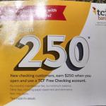 TCF Bank 250 Free Checking Account Bonus