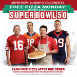 Papa John's Super Bowl Free Pizza After Order of $15 or More