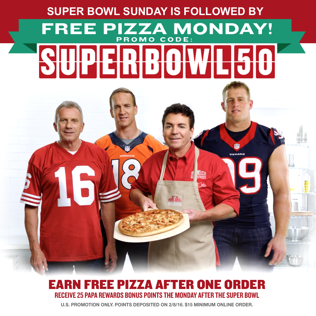 Papa John's Super Bowl Free Pizza