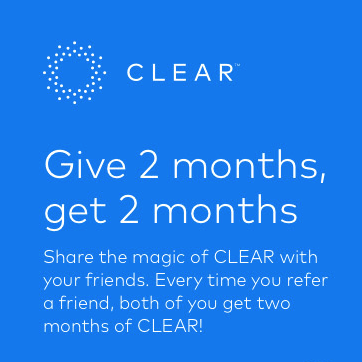 CLEAR Airport Security Line Access 2 Free Months Referral Program