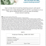 Dollar Bank FreeMONEY Checking Account $150 Employee Banking Bonus for Pittsburgh or Cleveland Metropolitan Areas