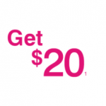 T-Mobile Prepaid Card with Mobile Money $20 Bonus Offer