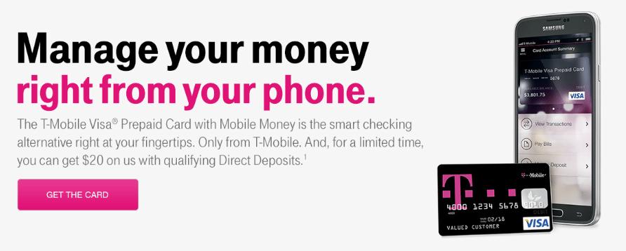 T-Mobile Prepaid Card Mobile Money Bonus Offer