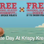 Krispy Kreme Free Doughnut for Talk Like A Pirate Day – Sept. 19th
