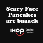 IHOP Free Scary Face Pancake on Halloween