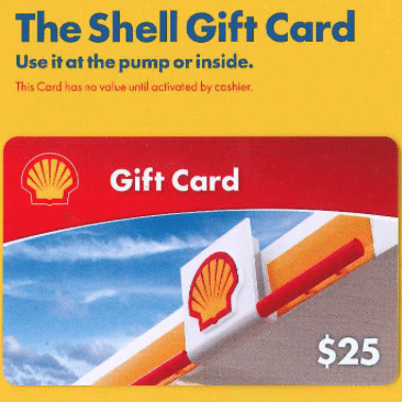 Shell 25 Gift Card Giveaway