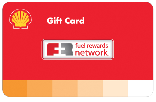 Shell Gas Station Fuel Rewards Network Gift Card
