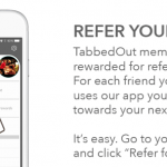 TabbedOut App $5 Referral Credits for Both Users