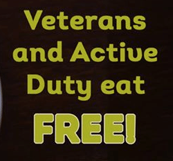 Veterans Day Restaurant Free Meals Military