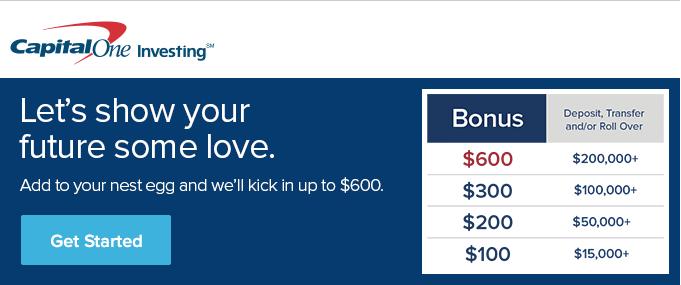 Capital One Investing Account Promotional Bonus