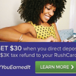 RushCard Prepaid Card $30 Bonus to Direct Deposit Tax Refund