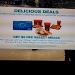 Madison Square Garden $5 Chase Visa Card Discount Off Select Meals
