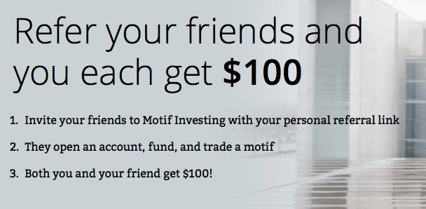 Motif Investing Refer Your Friends Program