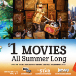 Regal Summer Movie Express $1 Admission on Tuesdays and Wednesdays