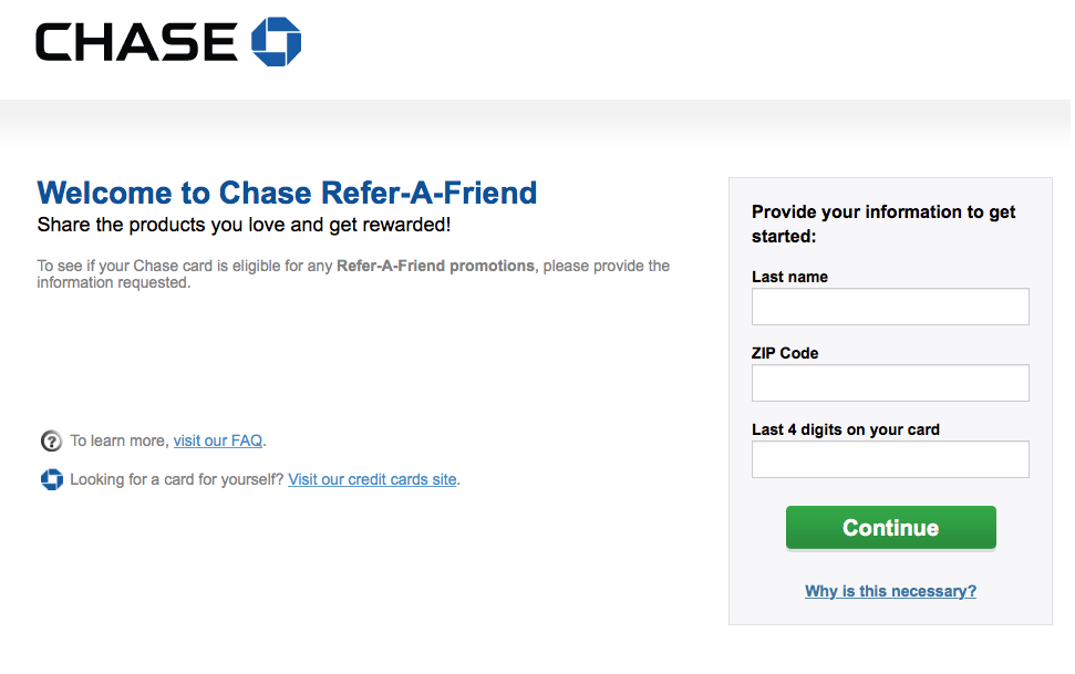Chase Refer A Friend Program