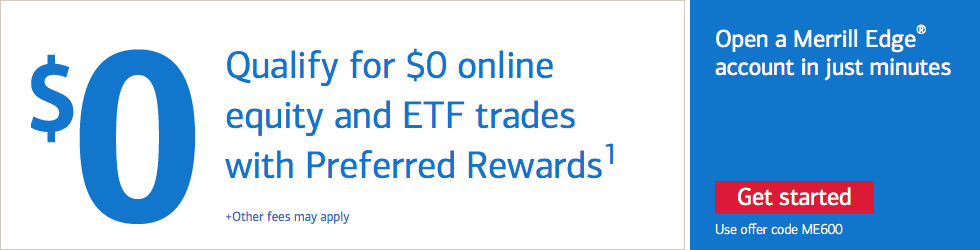Merrill Edge Free Stock ETF Trades Preferred Rewards