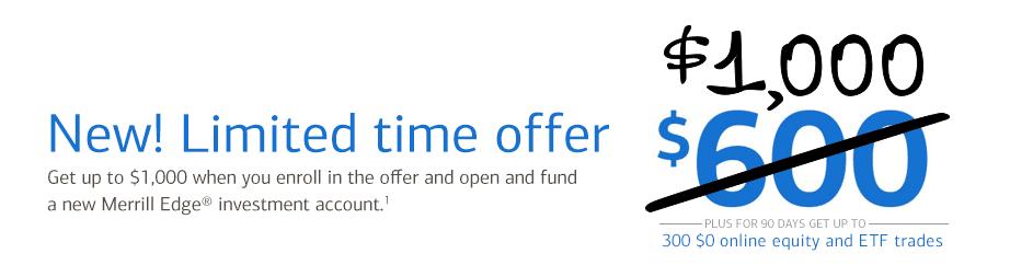 Merrill Edge Investment Account 1000 Bonus