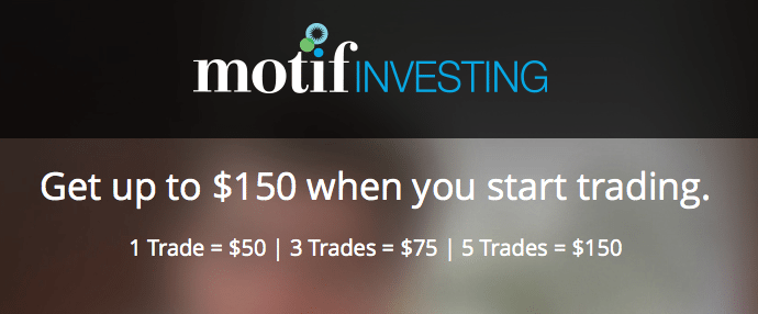 Motif Investing Account Bonus Promotion