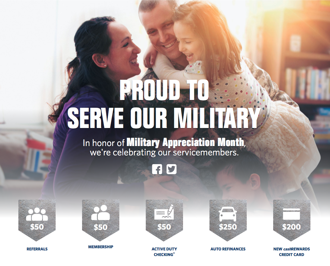 Navy Federal Credit Union Military Appreciation Month