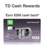 TD Cash Rewards Visa Credit Card 5% Cash Back for 6 Months and $200 Bonus