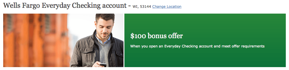 Wells Fargo Everyday Checking Account Bonus