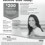 First Federal Bank of Wisconsin $200 Checking Account Promotion