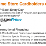 Amazon Prime Store Card 5% Cash Back and $40 Bonus Gift Card
