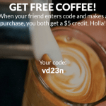 CUPS Coffee App Free $10 Credit and $5 Referrals