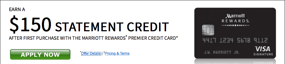 Marriott Rewards Premier Credit Card 150 Statement Credit