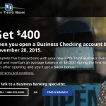 Fifth Third Bank $400 Business Checking Account Bonus