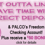 PALCO Federal Credit Union $50 Freedom Checking Account Bonus in Pennsylvania