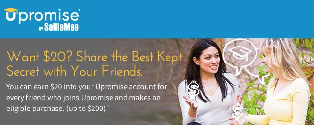 Upromise Refer A Friend Bonuses