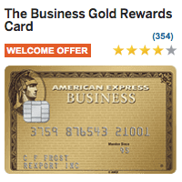 AMEX Business Gold Rewards Card 50 000 Bonus Points